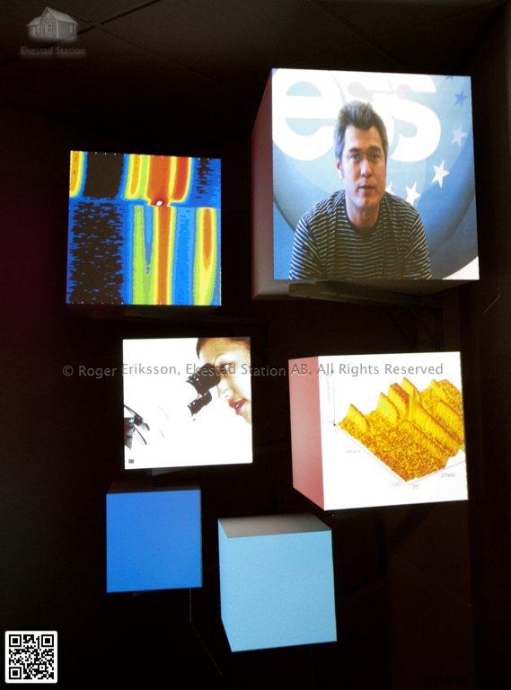 Flygande kuber, ESS utställning i Lund